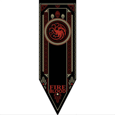 Game of Thrones House Targaryen Tournament Banner Mother of Dragons Fire & Blood