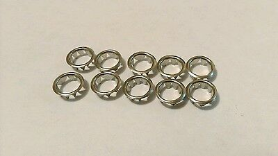 Clock Dial Collets Silver 10mm (10 per pack)