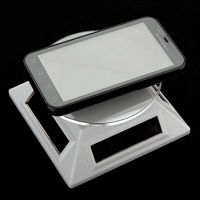 Solar Turntable Showcase Product Display Stand Rotating Light Solar Powered