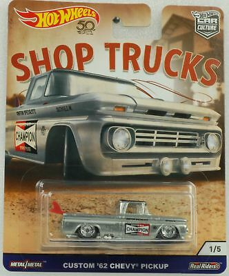 1:64 Hot Wheels Shop trucks Car culture Custom 62 Chevy Pickup 2018