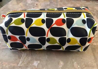 Orla Kiely For Target Pencil Olive Cosmetic Makeup Bag Case Travel Organizer New