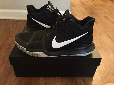 50f4de89e8e NIKE KYRIE 3 sz 11.5 BLACK WHITE BHM MAMBA MENTALITY WHAT THE 2 4 ...