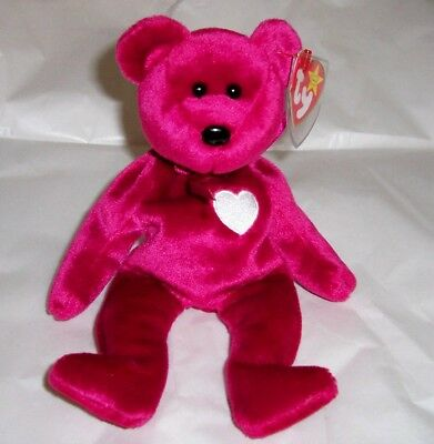 """Rare!  Ty Beanie Baby """"valentina"""", Mwmt, Many Errors!  Excellent Condition!"""