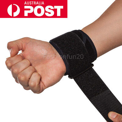Sports Wristband Protector Wrist Support Brace Wraps Support Gym Tennis Straps W