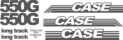 Reproduction CASE 550G Long Track dozer crawler replacement decal kit decals