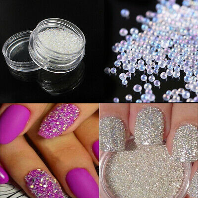 3g / Box 0.8-1MM Glass Caviar Mini Tiny 3D Micro Beads Nail Art DIY Decoraciones