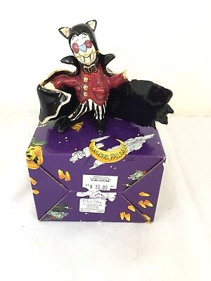 """Blue Sky Clayworks Halloween by Heather Goldminc """"The Count"""" Ceramic"""