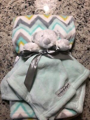 Blankets and & Beyond Green Mint Bear 2 Piece New But No Tags