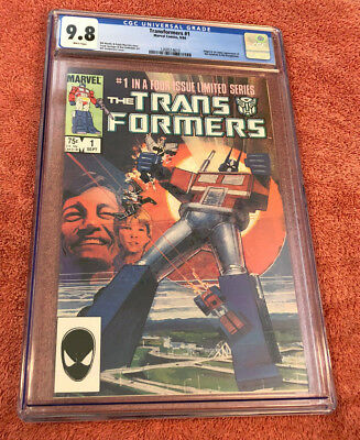 1984 TRANSFORMERS #1 CGC 9.8 NM+ WHITE PAGES 1st LIMITED SERIES MARVEL COMICS