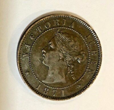 1871 Victoria Queen Prince Edward Island One Cent