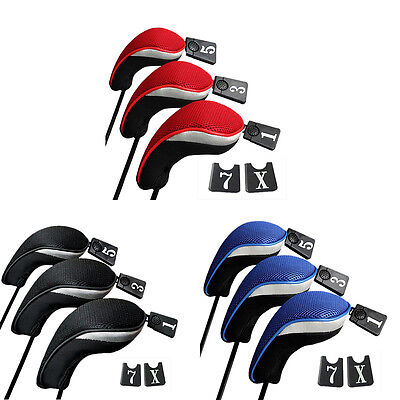3PCs Golf Club Head Covers - 1,3&5 Wood Driver Head Covers Set Replacement