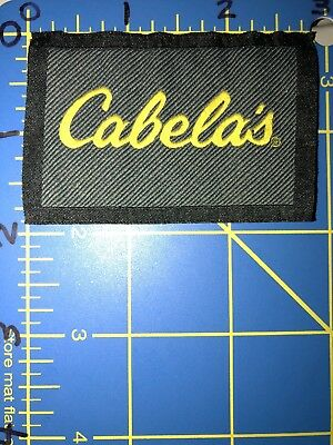 Cabela's Logo Patch Tag Outdoor Apparel Clothing Sportswear Hunting Fishing Gear
