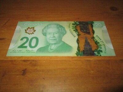 2012 canada 20 dollar bill (near RADAR) FWH92RADAR