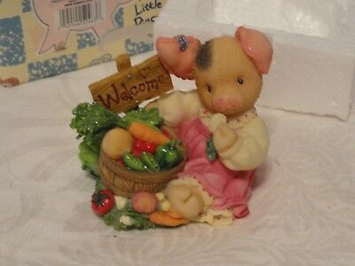 This Little Piggy*welcome to garden of Eatin* 1998 edition by Enesco~TLP