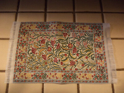 Dollhouse Miniature Dollhouse Rug with Fringe-EXCELLENT
