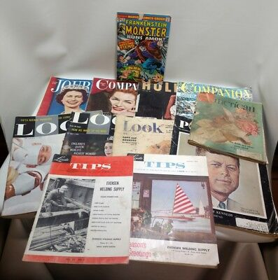 Large Lot Of Vintage Magazines, Look, Post, Journal, Companion