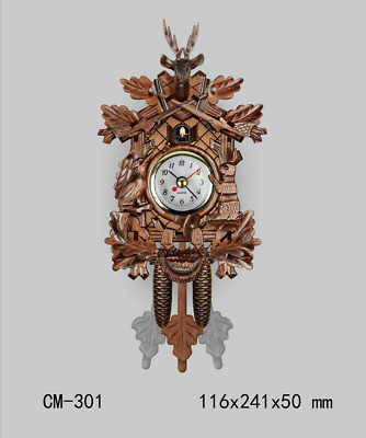 LE German Cuckoo Clock Vintage Wall Clock Retro Clocks Wooden Wall Home Decor