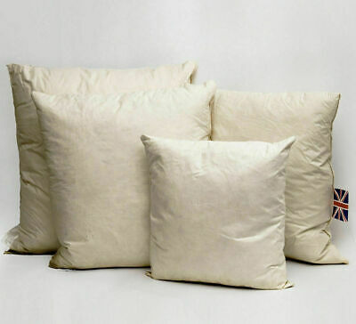 """Duck Feather Cushion Pads Inners Inserts Fillers Scatters 8"""" To 36"""""""