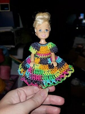 Hand crocheted Mattel Kelly Doll Clothes hot pink