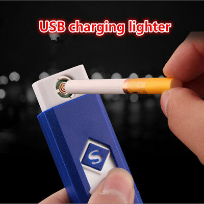 USB Rechargeable Windproof Flameless Electronic Charging Cigarette Lighter