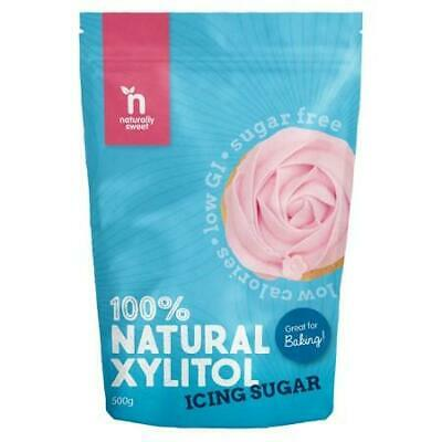 NATURALLY SWEET Xylitol  Icing Sugar 500g Organic Gluten Free Health Food