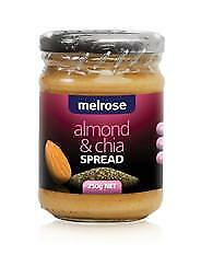 Melrose Almond and Chia Spread 250g Organic Gluten Free Health Food