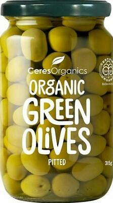 Ceres Organic Green Olives Pitted 315g Organic Gluten Free Health Food
