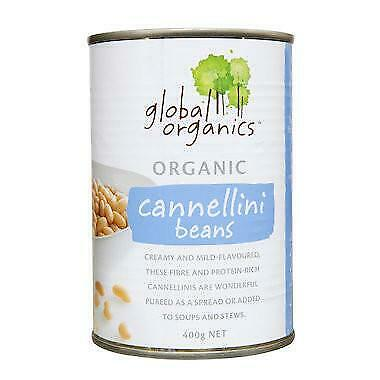 Global Organics Cannellini Beans 400g Organic Gluten Free Health Food