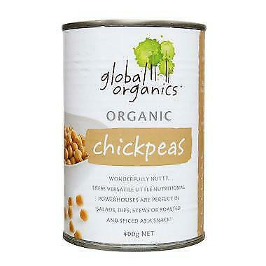 Global Organics Chick Peas 400g Organic Gluten Free Health Food