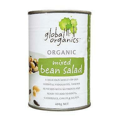 Global Organics Mixed Bean Salad 400g Organic Gluten Free Health Food