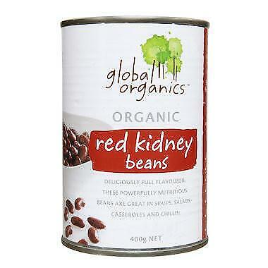 Global Organics Red Kidney Beans 400g Organic Gluten Free Health Food
