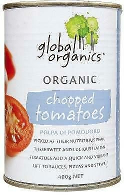 Global Organics Chopped Tomatoes 400g Organic Gluten Free Health Food