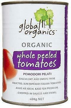 Global Organics Whole Tomatoes 400g Organic Gluten Free Health Food
