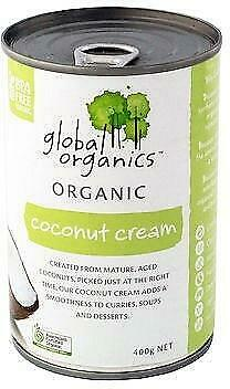 Global Organics Coconut Cream 400g Organic Gluten Free Health Food