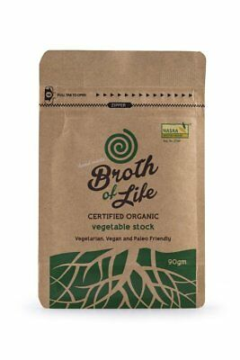 Broth of Life Dehydrated Vegetable Stock 90g Organic Gluten Free Health Food
