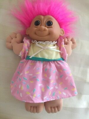 Vintage Baby Trolls Doll Soft Body Plush / Stuffed by Russ