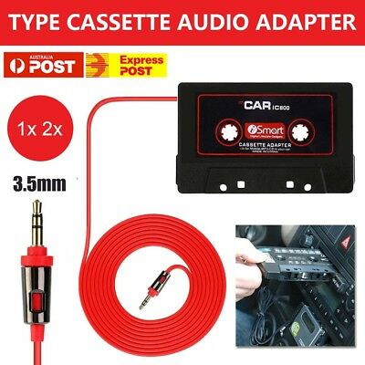 Car Tape Cassette 3.5mm Music AUX Audio Adapter Converterfor iPhone iPod MP3
