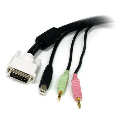 StarTech.com 6 ft 4-in-1 USB DVI KVM Cable with Audio and Microphone