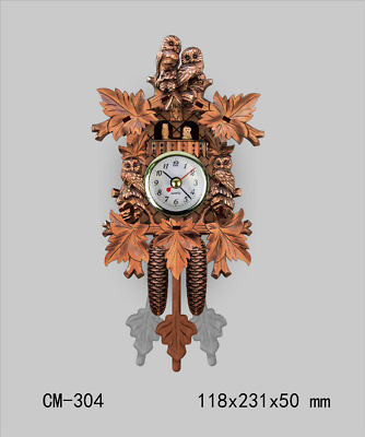 LE German Cuckoo Clock Numeral Wood European Style Retro Home Decor Wall Clock