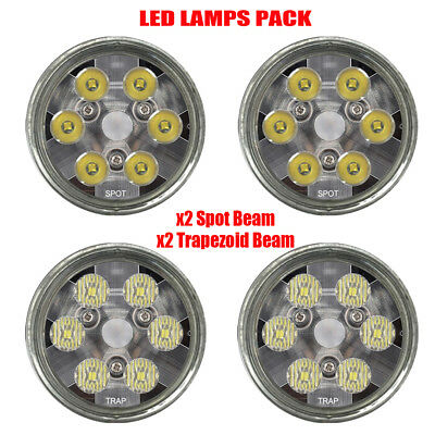 PAR36 led bulbs Pack 2 Trapezoid 2 Spot beam tractor lights Replace GE4411 24443