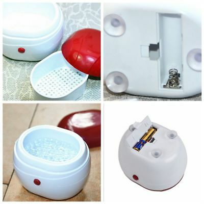 US Mini Ultrasonic Cleaner For Gold Silver Jewelry Ring Necklace Watches White