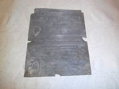 Vintage printing plate Ford 1950's truck ad