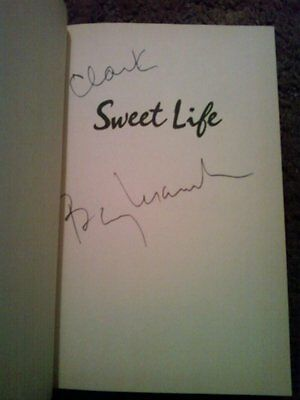 Sweet Life By Barry Manilow Signed hardback book