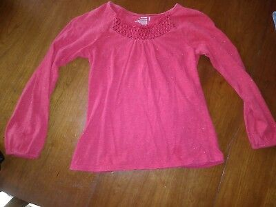 Girls top faded Red Glittery Long sleeved Old Navy size 8
