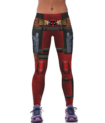 e78d19a0d443bf Marvel Comics Deadpool Suit Up Yoga Pants Leggings Casual Sports Pants