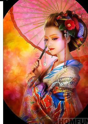 "5D DIY Diamond Embroidery Painting  Full Square/Round Drill ""Japanese woman"""