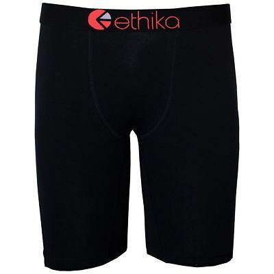 NEW Ethika Youth The Staple Black Seal Boxers Kids Boys Long Motocross Underwear