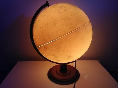 Vintage Replogle  Library Globe on Wooden Stand