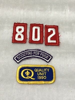 Mixed Lot Cub / Boy Scout  Patches - Numbers, Quality Unit, Scouting For Food