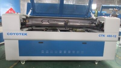 Laser engraving & cutting machine with 4 heads & rotators